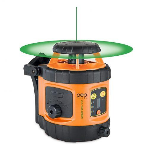 Nivela laser VERDE rotativ GeoFennel cu autonivelare pe orizontala si reglare manuala pe verticalaFL 190A GREEN imagine 2021