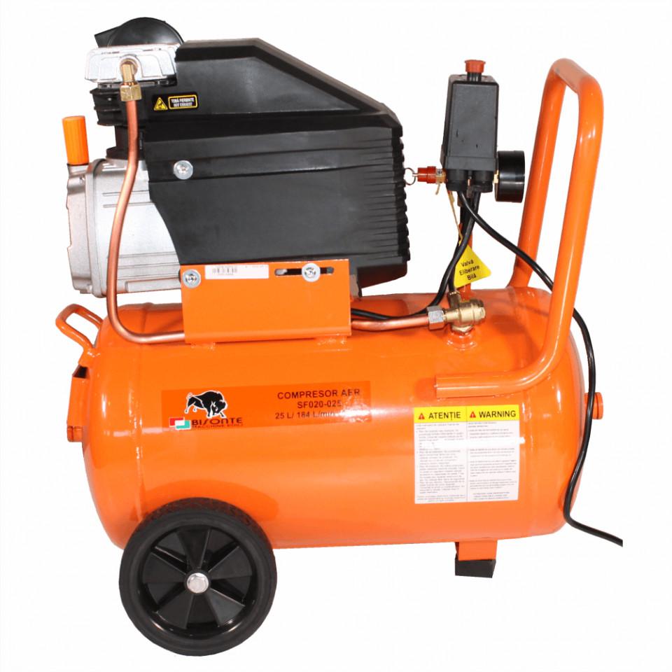 Bisonte compresor de aer cu ulei SF020-025, debit aer 187 l/min., motor 230V