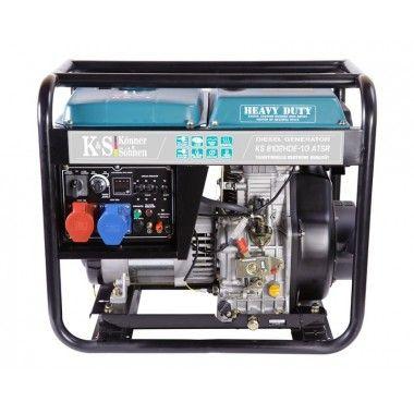 Generator de curent diesel 6.5 kW, KS 8102HDE-1/3 ATSR (Euro 2) – Konner and Sohnen