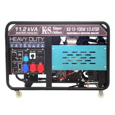 Generator de curent diesel 8.1 kW, KS 13-1DEW 1/3 ATSR – Konner and Sohnen