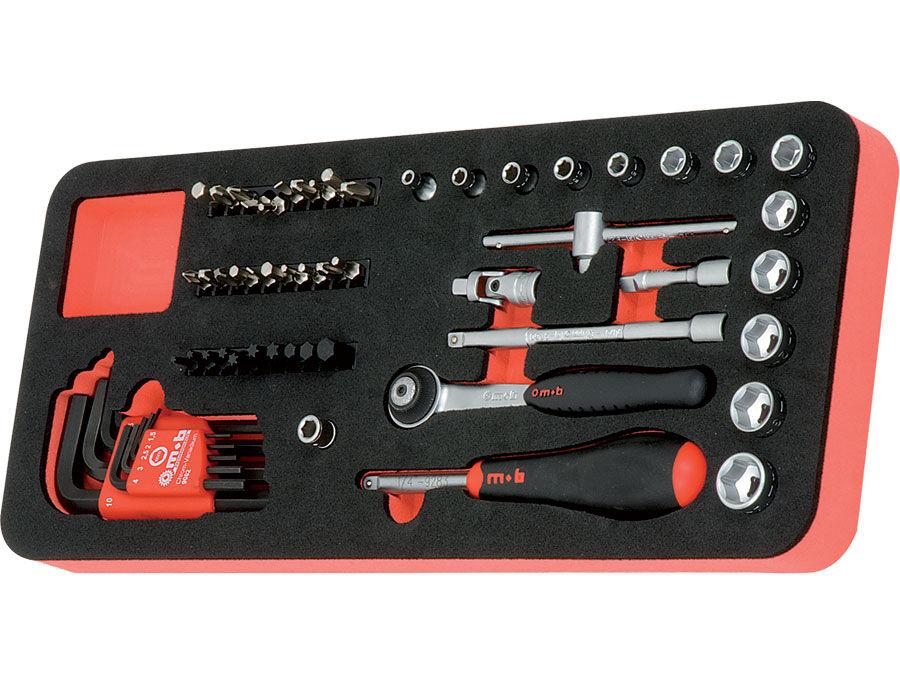 """Modul OSC cu 60 capete tubulare si accesorii 1/4"""" SH 60 scule"""