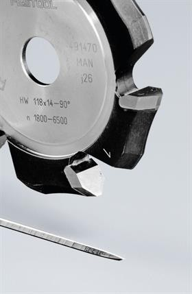 Festool Freză de canelat in forma de V HW 118x18-135°/Alu poza