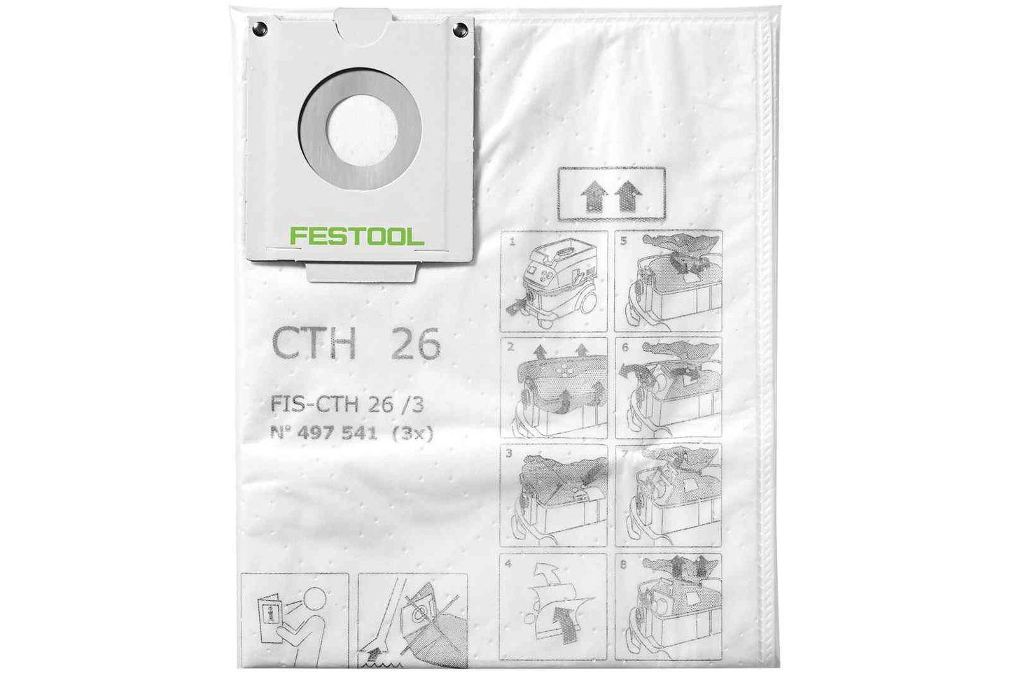 Festool Sac de filtrare de siguranta FIS-CTH 26/3