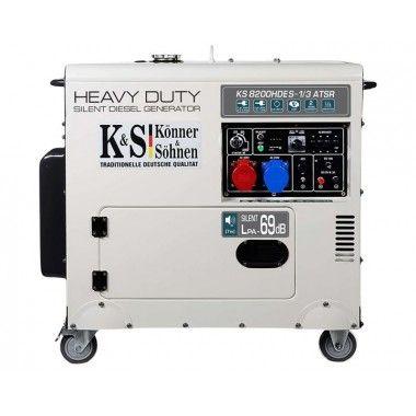 Generator de curent diesel 6.5 kW, KS 8200HDES-1/3 ATSR – Konner and Sohnen