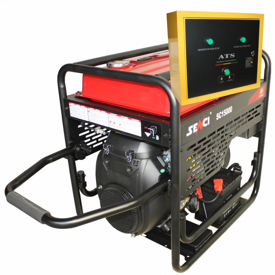 Generator de curent monofazat SC15000-ATS Putere max. 13 kW AVR panou de automatizare imagine 2021