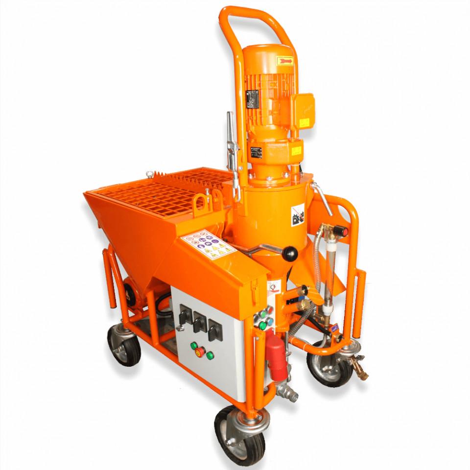 Pompa de tencuit BISONTE PCS-K4 trifazica 400V, debit material 6-40 l /min