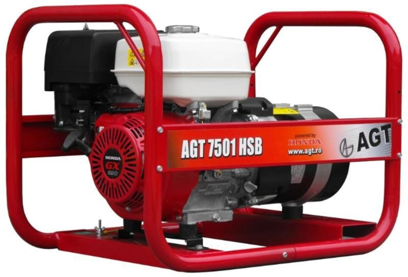 Generator curent AGT 7501 HSB 6.4 kVA Motor Honda GX390 imagine 2021