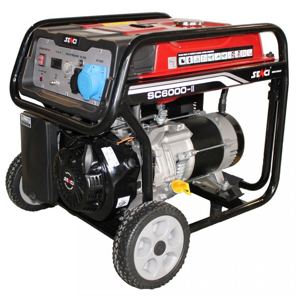 Generator De Curent Senci Sc-6000  5500w  230v - Avr Inclus  Motor Benzina