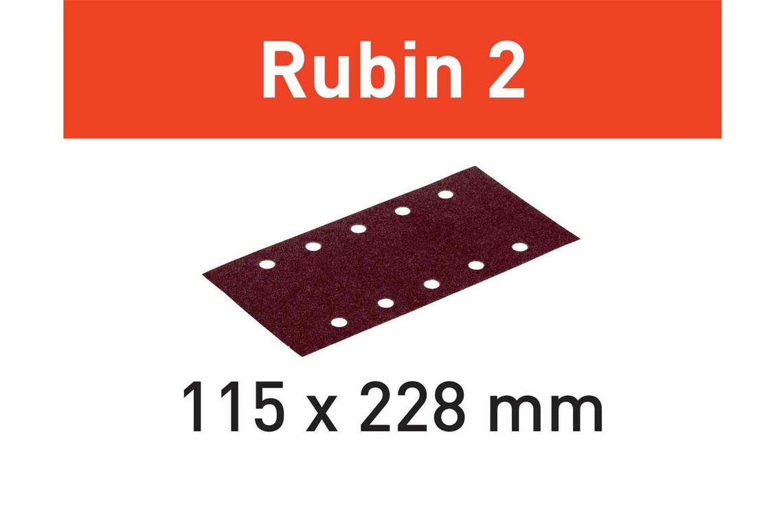 Festool Foaie abraziva STF 115X228 P40 RU2/50 Rubin 2