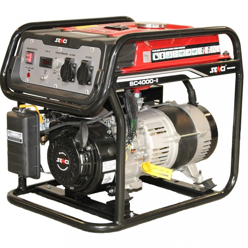 Generator De Curent Senci Sc-4000  3800w  230v - Avr Inclus  Motor Benzina