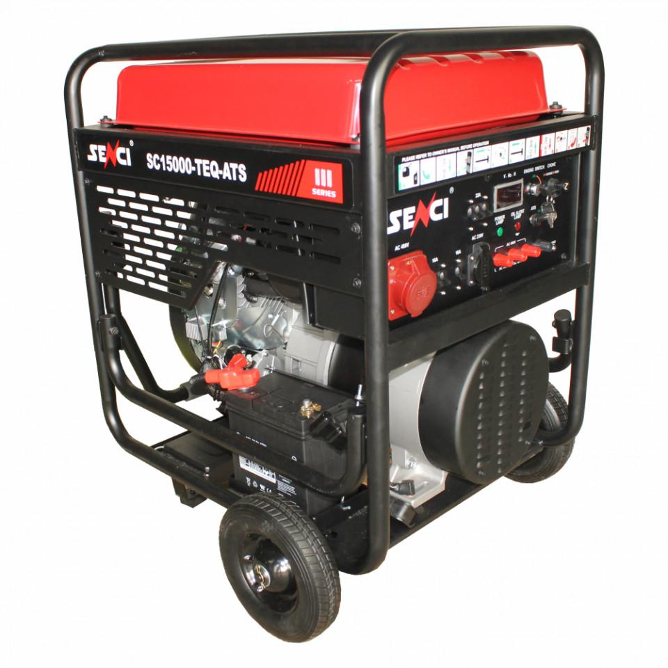 Generator de curent trifazat SC15000TE-ATS Putere max. 13 kW 400V, AVR motor benzina imagine 2021