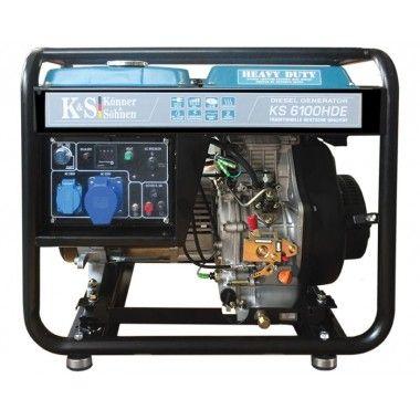 Generator de curent diesel 5.5 kW, KS 6100HDE – Konner and Sohnen