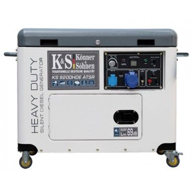 Generator de curent diesel 6.8 kW, KS 9200HDE ATSR Silent – Konner and Sohnen