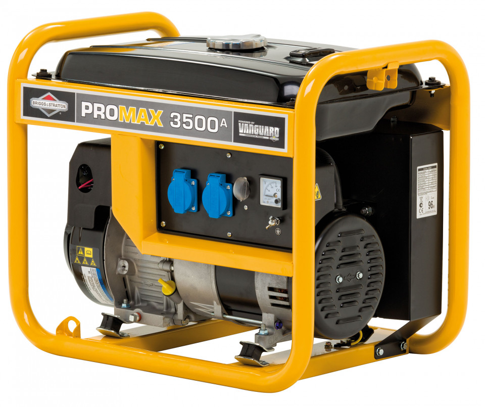 Generator de curent monofazata Briggs & Stratton ProMax 3500A 3,5 kVA, 230V, cadru deschis, AVR imagine 2021