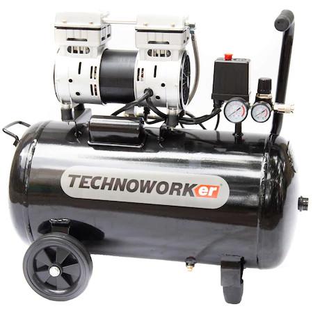 Technoworker Compresor fara ulei KS 1500-100L, 100 l, 2CP, 232 l/min, 8 bari imagine 2021