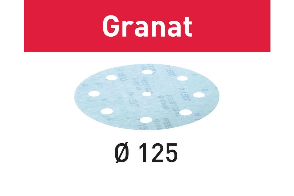 Festool Foaie abraziva STF D125/8 P800 GR/50 Granat imagine 2021