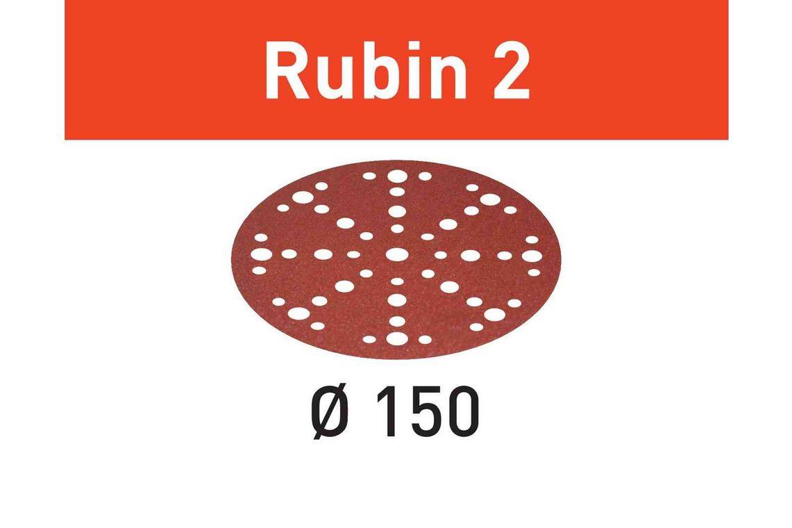 Festool Foaie abraziva STF D150/48 P80 RU2/10 Rubin 2