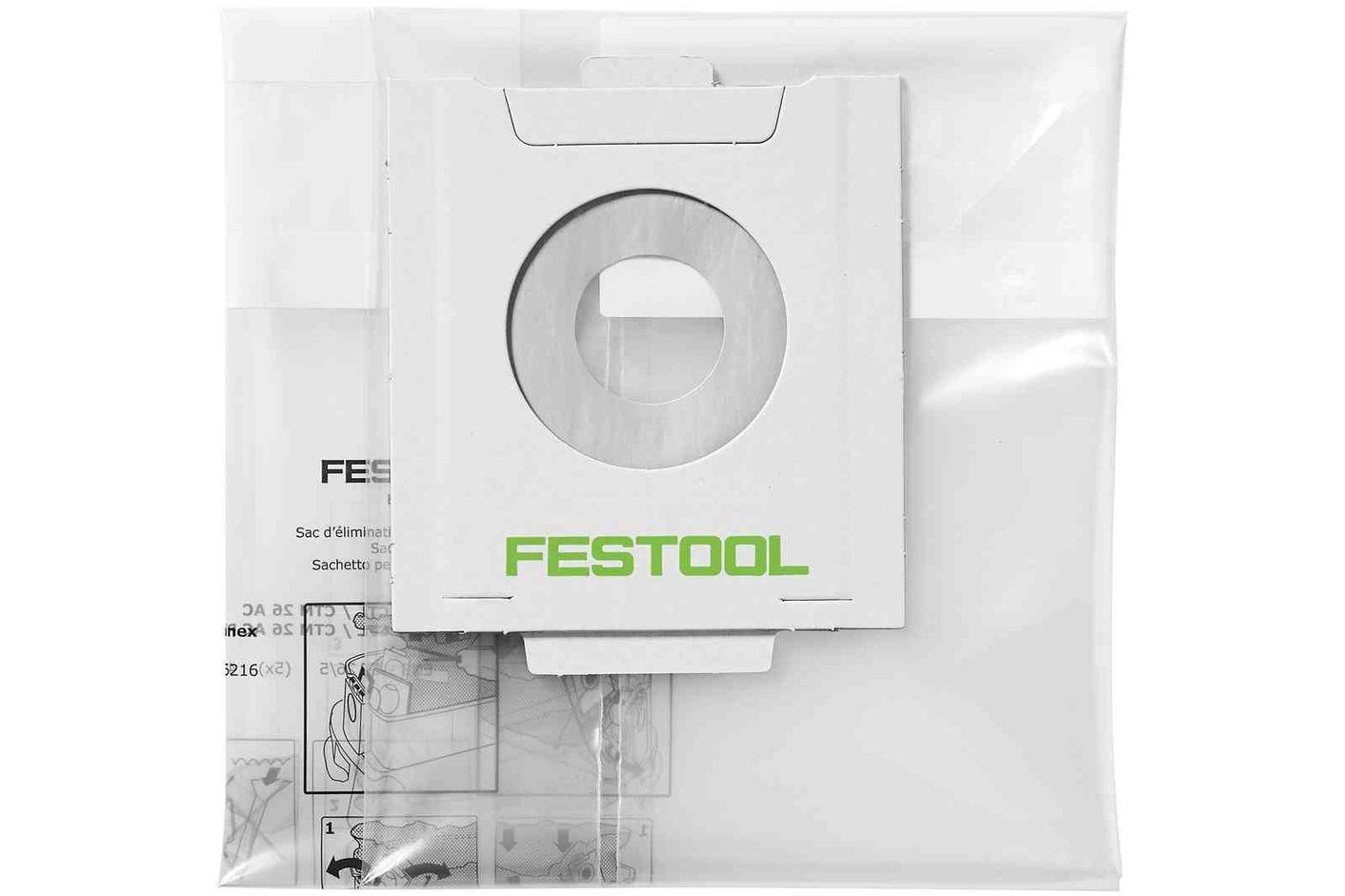 Festool Sac de reziduri, de unica folosinta ENS-CT 26 AC/5 imagine 2021