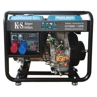 Generator de curent diesel 7.5 kW, KS 9100HDE-1/3 ATSR – Konner and Sohnen