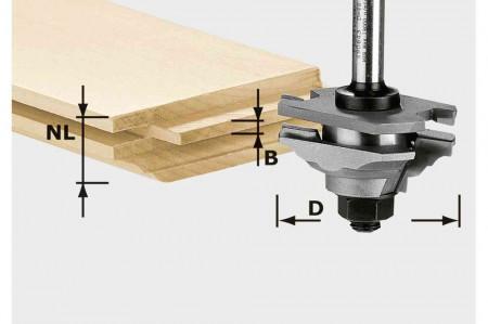 Festool Freză de profilat/cu arc HW S8 D46 x D12-FD