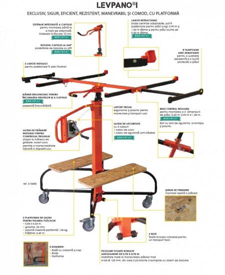 Dispozitiv montare/prelucrare placi gips carton Levpano I