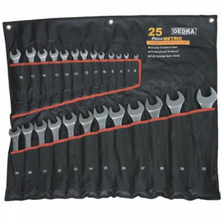 Set 25 chei combinate in husa textil CRV