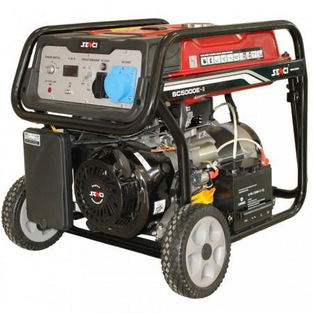 Generator de curent Senci SC-5000E, 4500W, 230V - AVR inclus, motor benzina cu demaraj electric