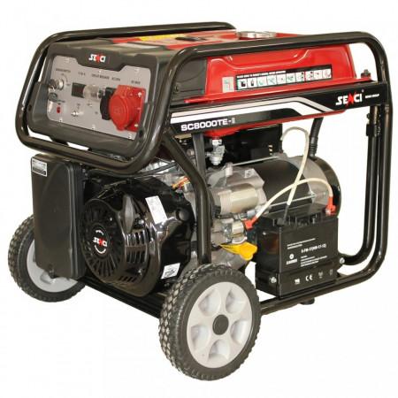Generator de curent Senci SC-8000TE, 7000W, 400V - AVR inclus, motor benzina cu demaraj electric title=Generator de curent Senci SC-8000TE, 7000W, 400V - AVR inclus, motor benzina cu demaraj electric