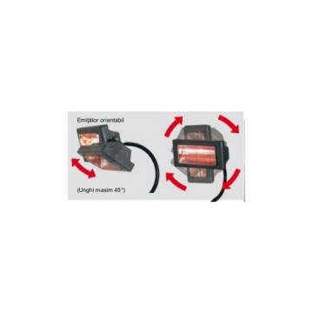 Incalzitor electric cu raze infrarosii MT22, cu trepied 2kW 230V Calore