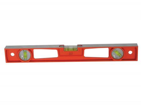 Nivela rectangulara din aluminiu cu 2 fete si 3 fiole 60