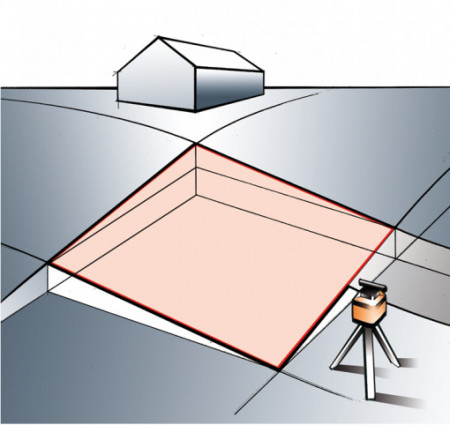 Nivela laser rotativ Stabila Set LAPR 150 orizontal, vertical, cu trepied si rigla de 2,4 m