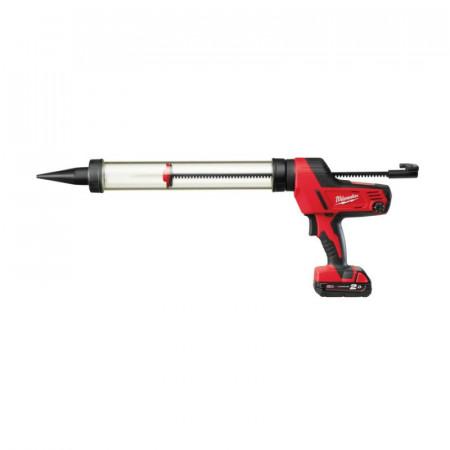 Pistol aplicare Milwaukee silicon cu acumulatorMODEL C18 PCG-600T-201B, 600ML
