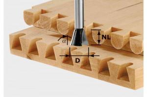 Festool Freze coadă de rândunică HW S8 D13,8/13,5/15°