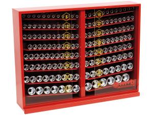 """Expozitor cu 165 capete chei tubulare 1/2"""" SH 585×450×150"""