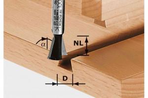 Festool Freze coadă de rândunică HW S8 D14,3/13,5/15°