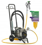 "Wagner SuperFinish 23 PRO Cart HEA, debit material 2.6 l/min, duza max. 0,023"", motor electric 1,30 kW"