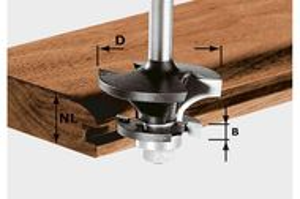 Festool Freză contra-profil/nut pentru canale HW S8 D43/21 A/KL