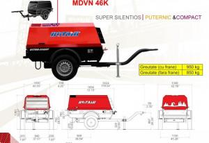 Motocompresor 4500l/min 7 bar Kubota + kit tractare omologat