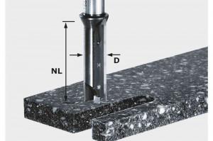 Festool Freză de canelare cu plăcuţe amovibile HW S12 D14/45 WM