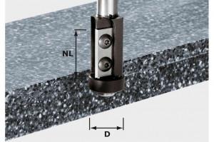 Festool Freză pentru frezarea coplanară, cu plăcuţe amovibile HW S12 D21/30WM