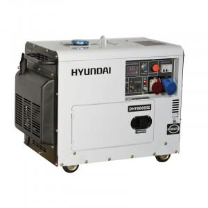 Generator de curent trifazat insonorizat HYUNDAI DHY8600SE-T 7 KvA