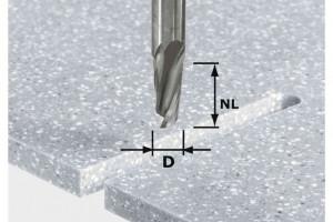 Festool Freză pentru canale elicoidale HW D12/27 ss S12