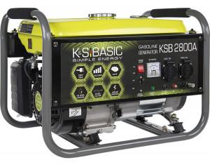 Generator de curent monofazat 2.8 kW benzina BASIC LINE - Konner & Sohnen - KSB-2800A