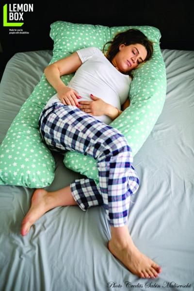 Poze Pernă pentru gravide și alăptare - MODEL STELUȚE
