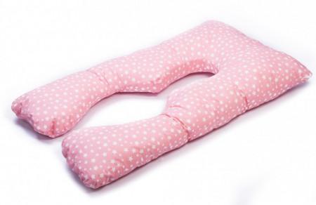 Poze HUSA perna TEO, pentru gravide si alaptare, model Roz cu stelute, LEMON BOX
