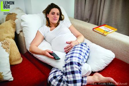 Poze Pernă pentru gravide și alăptare - MODEL ALB