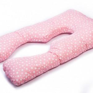 HUSA perna TEO, pentru gravide si alaptare, model Roz cu stelute, LEMON BOX