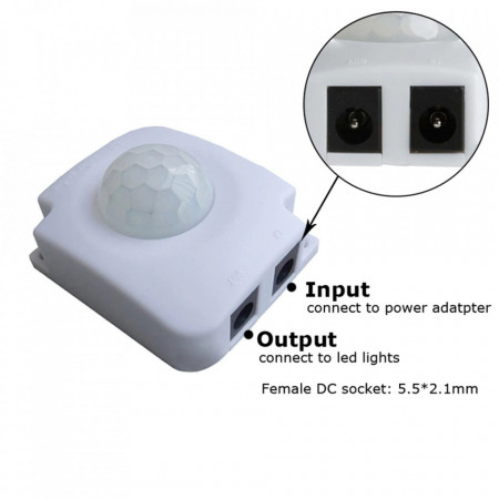 Senzor crepuscular miscare lumina pir 5v 12v 24v/ PIR 10A