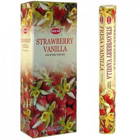 Set betisoare parfumate Hem Capsune Vanilie 1 set x 6 cutii x 20 betisoare