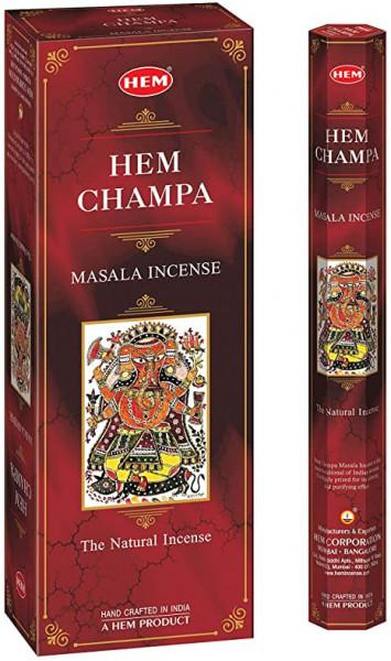 Set betisoare parfumate Hem Champa 1 set x 6 cutii x 20 betisoare